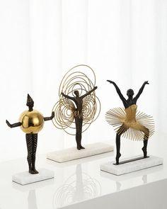 -6LWD Global Views Bauhaus Sphere Woman Sculpture Bauhaus Grande Plie Sculpture Bauhaus Wire Woman Sculpture