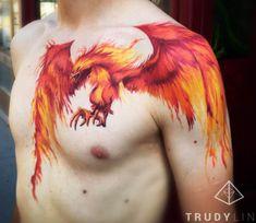 Phoenix tattoo by Trudy Lines Tattoo