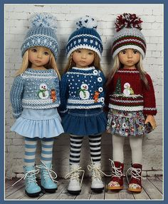 Winter (Maggie and Kate Create) Tags: Knitting Dolls Clothes, Crochet Doll Clothes, Knitted Dolls, Doll Clothes Patterns, Clothing Patterns, Ag Dolls, Cute Dolls, Girl Dolls, Baby Born Clothes