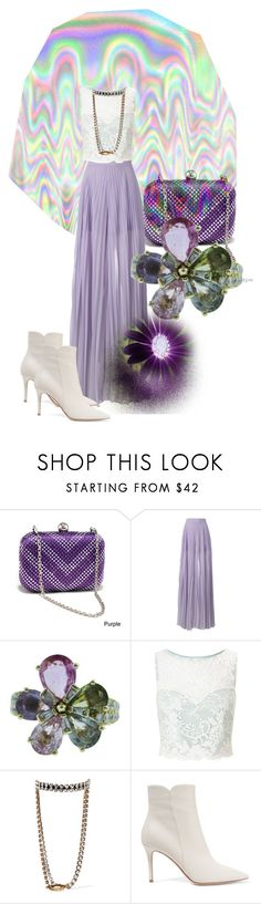 """Purple persuasion"" by feralkind ❤ liked on Polyvore featuring Dasein, Elie Saab, Bulgari, Miss Selfridge, Balenciaga and Gianvito Rossi"