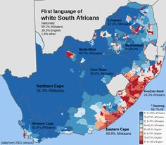 Die Eerste Taal van Wit Suidafrikaners. (First language of white South Africans.)