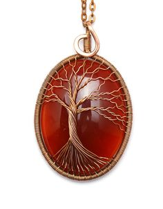 Tree-Of-Life Necklace Pendant Tree-Of-Life Jewelry by KittenUmka