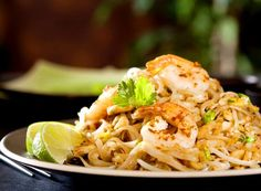 This recipe for pad Thai noodles with shrimp is authentic, easy, and so scrumptious! It's based on pad Thai dishes in Thailand.