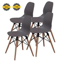 OTTITI Mid Century Modern Dining Room Chairs - Eames Styl...