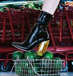 Christian Dior Fall 2015 Latex Patent Boots Lucite Crystal Heel