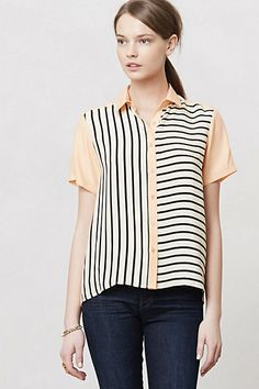 silk striped blouse