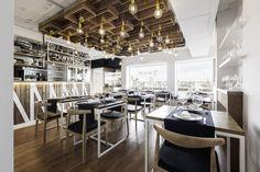 Sal de Allo restaurant by Nan Arquitectos, Pontevedra – Spain » Retail Design Blog Visual Merchandising, Design Blog, Store Design, 2016 Pictures, Restaurant Bar, Restaurant Interiors, Retail Space, Design Furniture, Cafe Bar