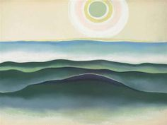 Georgia O'Keeffe (American, 1887-1986), Sun Water Maine, 1922. Pastel on paper laid down on board, 19 x 25¼ in. (48.3 x 64.1 cm.)
