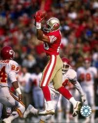 Jerry Rice...arguably best Wide Receiver to ever play the game...