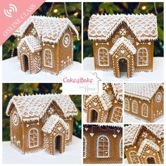 *LIVE* online Gingerbread House Class December 19th, 10am - 12.30pm, £30 Suitable for: Beginners + 25% OFF THIS CLASS WITH CODE ILOVEXMAS UNTIL MIDNIGHT FRIDAY 11TH DECEMBER! Join me on my wonderful new online Christmas Class - we'll be making a stunning Gingerbread House from scratch - perfect for you to display with your own festive decorations or an amazing gift for a loved one! This wonderful online Gingerbread House class will cover: The perfect gingerbread recipe - I'll Ikea Gingerbread House, Gingerbread House Template, Snow Effect, Sugar Eggs, Cake Board, Design Your Home, Festival Decorations, Visual Effects, Victorian Fashion