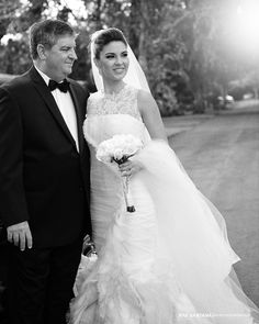 Nicole & her father minutes before her wedding!! Goodtimes