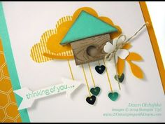 Stampin' Up!'s What's Up #PunchArt Birdhouse #dostamping #howdsheDOthatvideo