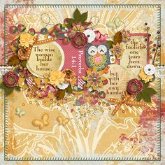 The wise woman builds her house, but with her own hands the foolish one tears hers down.  Proverbs 14:1  kit: Berry in Love by Pixelily; template: challenge freebie by Seatrout Scraps