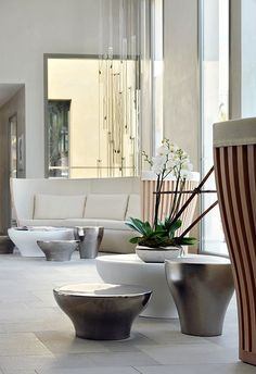 French designer Christophe Pillet created the interiors of the Hotel Sezz in Saint-Tropez, France