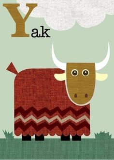 Letter Y yak.