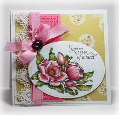 It's reveal day 3 at Flourishes and Cindy Lawrence created this gorgeous card using Flourishes brand new Magnolias Stamp Set by Marcella Hawley. Be Sure to check out her Blog for more details.