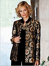 Chenille Brocade Jacket - Floral Pattern Jacket | Drapers