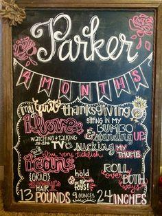 Monthly chalkboard