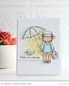 Stamps: Beach Cutie, Just Beclaws | Die-namics: Beach Cutie, Just Beclaws | Stencil: Geometric Stars — Joy Taylor #mftstamps