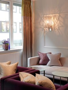 Hotel Continental / Wille Interior Leading Hotels, Interior Work, Best Hotels, Lighting Design, Curtains, Bedroom, Wall, Inspiration, Home Decor