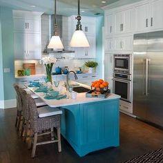 Walls Sherwin Williams Watery --Turquoise Kitchen Island Sherwin Williams Drizzle