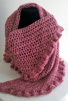 Mother's Day shawl with ruffles.