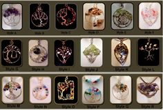 """""""One of a kind"""" Gemstone """"Tree of life"""" Jewelry custom Designed and Hand Created by Me!     ~~~~~~~  How to Order  # 1   Choose the Item style you would like on the drop down menu # 2   Note on the or"""