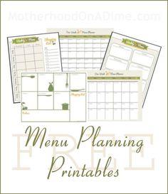 Cute Menu Planning Printables, plus tips for planning a menu!