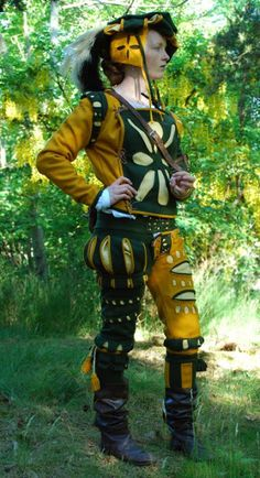 """This looks like an excellent representation of Landsknecht garb. A Landsknecht was a rather menacing German mercenary soldier. (It's pronounced sort of like """"lants-connect."""")"""