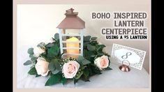 Get Unique Wedding Flower Centerpieces On A Budget That Look Professional And Beautiful - Pretty Bride Now Unique Wedding Centerpieces, Lantern Centerpiece Wedding, Wedding Lanterns, Flower Centerpieces, Centerpiece Ideas, White Lanterns, Greenery Garland, Boho Diy, Trendy Wedding