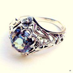 Alexandrit Ring Sterling 925er Silber Ring Farbe von STEAMPUNKitis