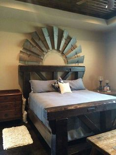 Windmill bed back decor