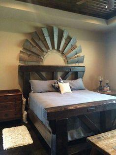 Windmill bed back decor