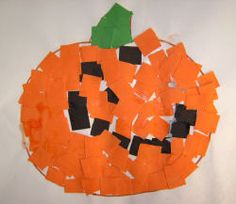 Pumpkin mosaic, this would work for any fall occasion. to change it to just fall do not add the face.