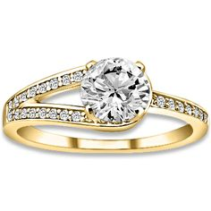 1.17 ctw 14k YG Natural I-J Color, VS - SI  Clarity, Accent Diamonds Engagement Ring http://www.pricepointshop.com/product.asp?idproduct=21764