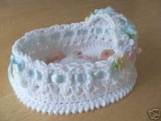 OOak Crochet Bassinet six and a half inches Pastel by picotlace60