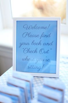 Library Themed Baby Shower - On to Baby
