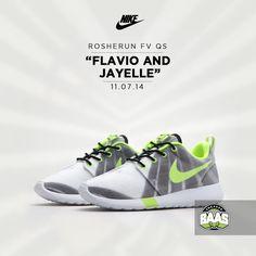 "Nike Rosherun FV QS ""Flavio and Jayelle"" | Release 11.07.14 | www.sneakerbaas.nl | #Nike #rosherun #QS #FlavioAndJayelle"
