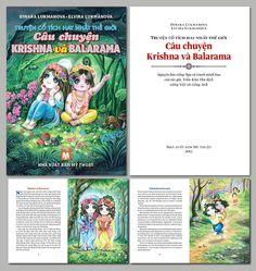 Krishna & Balarama Stories (Vietnamese edition with English & Russian). Design by r. L.