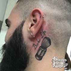 Barber life tattoo -Fonts www.vintatts.com