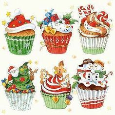 20 x Paper Napkins Cupcakes for Decoupage Party Lunch and Table a3