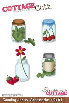 CottageCutz Canning Jar w/ Accessories (4x6)