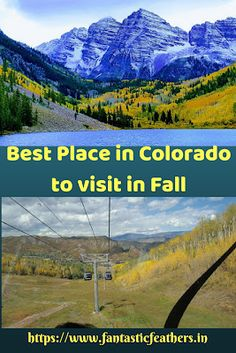 Fantastic Feathers: Golden leaves and Gondola rides - Aspen, CO, USA Fall colors Visit Denver, Golden Leaves, Rocky Mountain National Park, Secret Places, Travelogue, World Traveler, Aspen, Cool Places To Visit, State Parks