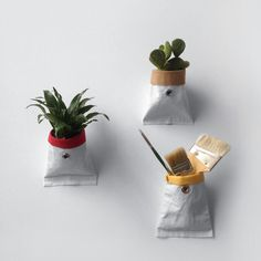 Wallflower Handmade flat-packed planters made from reclaimed sailcloth, The Garden Apartment
