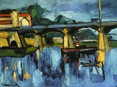 The Bridge at Chatou - Морис де Вламинк