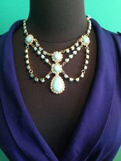 Blue Stella dot inspired necklace by KorabyShaina on Etsy.