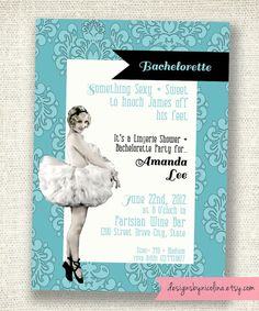Sassy TuTu Vintage Pin Up Lingerie Shower or by designsbynicolina, $15.00