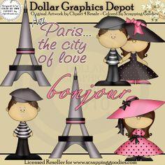 Paris Love - Clip Art - $1.00 : Dollar Graphics Depot, Quality Graphics ~ Discount Prices