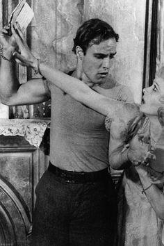 Marlon Brando and Vivien Leigh in A Streetcar Named Desire (1951)
