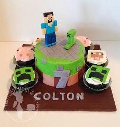 Minecraft Cake by The Cake Mom & Co., via Flickr